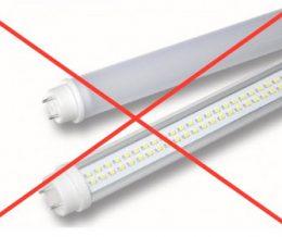 Perche non devi sostituire i tubi fluorescenti con i tubi LED?